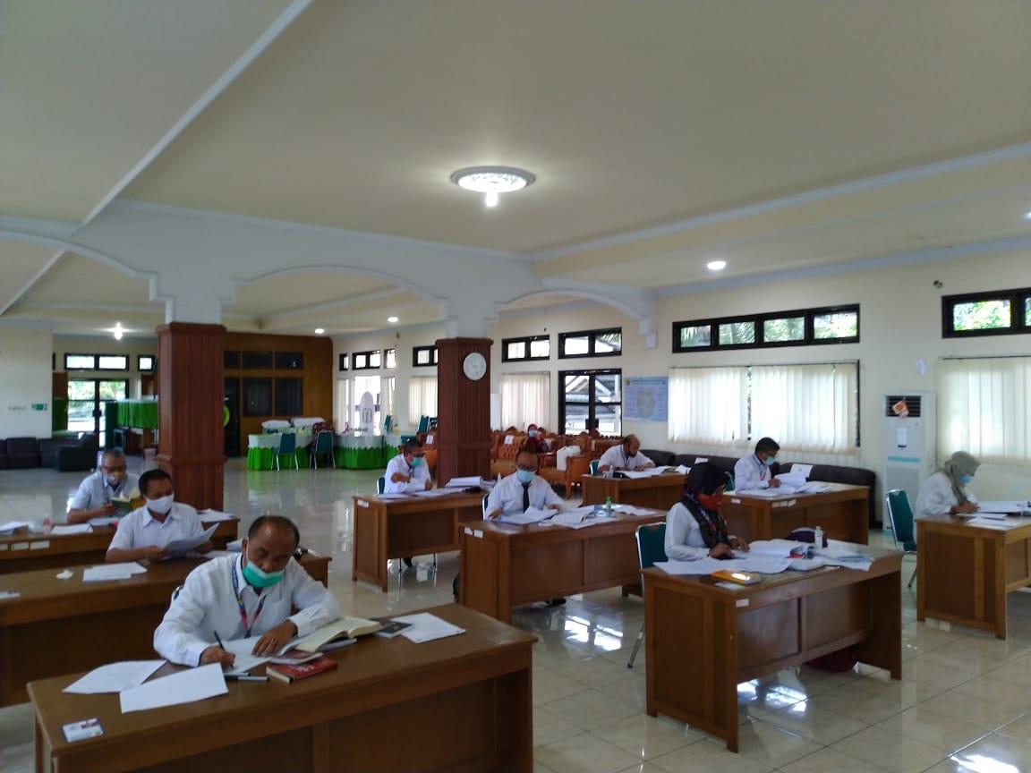 Pelaksanaan Ujian Tertulis Hakim Ad Hoc Tahap XIV wilayah PT Bengkulu