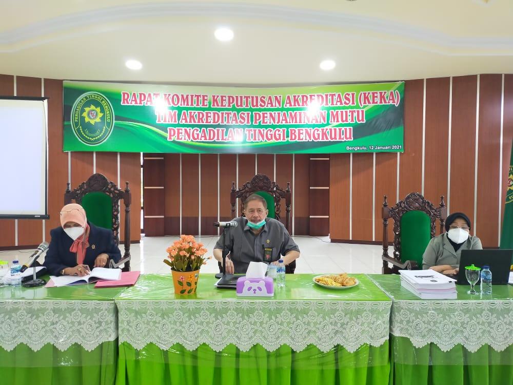 Rapat Komite Keputusan Akreditasi (KEKA) TAPM PT Bengkulu